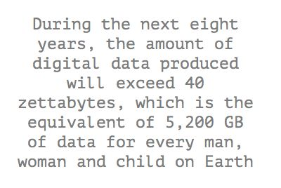 During the next eight years, the amount of digital data...