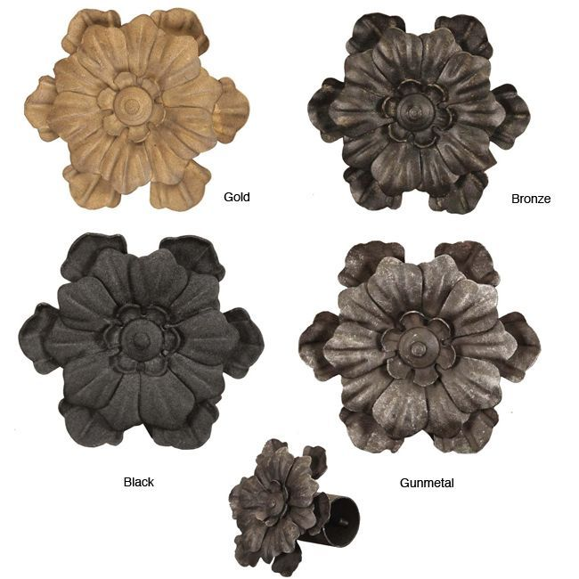 Add An Elegant Finish To Your Curtain Rod With These Casa Artistica Flower  Designed Finials.
