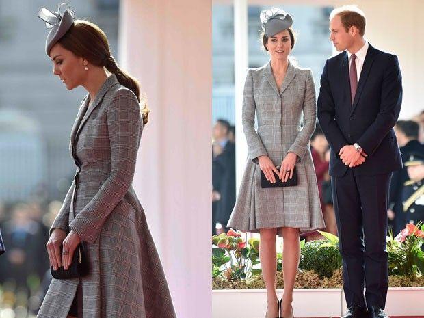Kate Middleton, grávida de seu segundo filho, e o príncipe William participam de evento em Londres nesta terça-feira (21) (Foto: Toby Melville/Reuters)