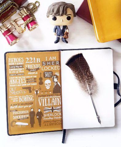 Sherlock Holmes journal #sherlockholmes #bakerstreet #stationery #221b #bored #journal #sherlock #benedictcumberbatch #watson