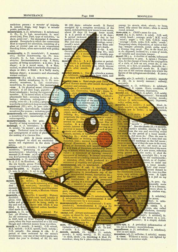 Pikachu de Pokemon Upcycled Diccionario por BlackCatzDesigns