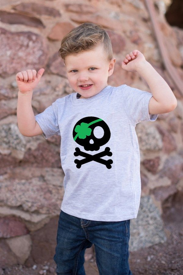 Celebrate St. Patrick's Day with your little Leprechaun with build-your-own holiday shirts and onesies from Littlest Prince Couture!Shirt Colors:BlackWhiteGrayMintDesign colors:Black/ White (Black designs will have green accents for white/gray/mint shirts and white designs with green accents for black shirts)GreenNeck Lines:CrewV-NeckDesigns: Clover MoustacheGood Luck CharmLeprechaun SilhouetteLucky Every DayNot a LeprechaunPinch ProofPirate Leprecha...