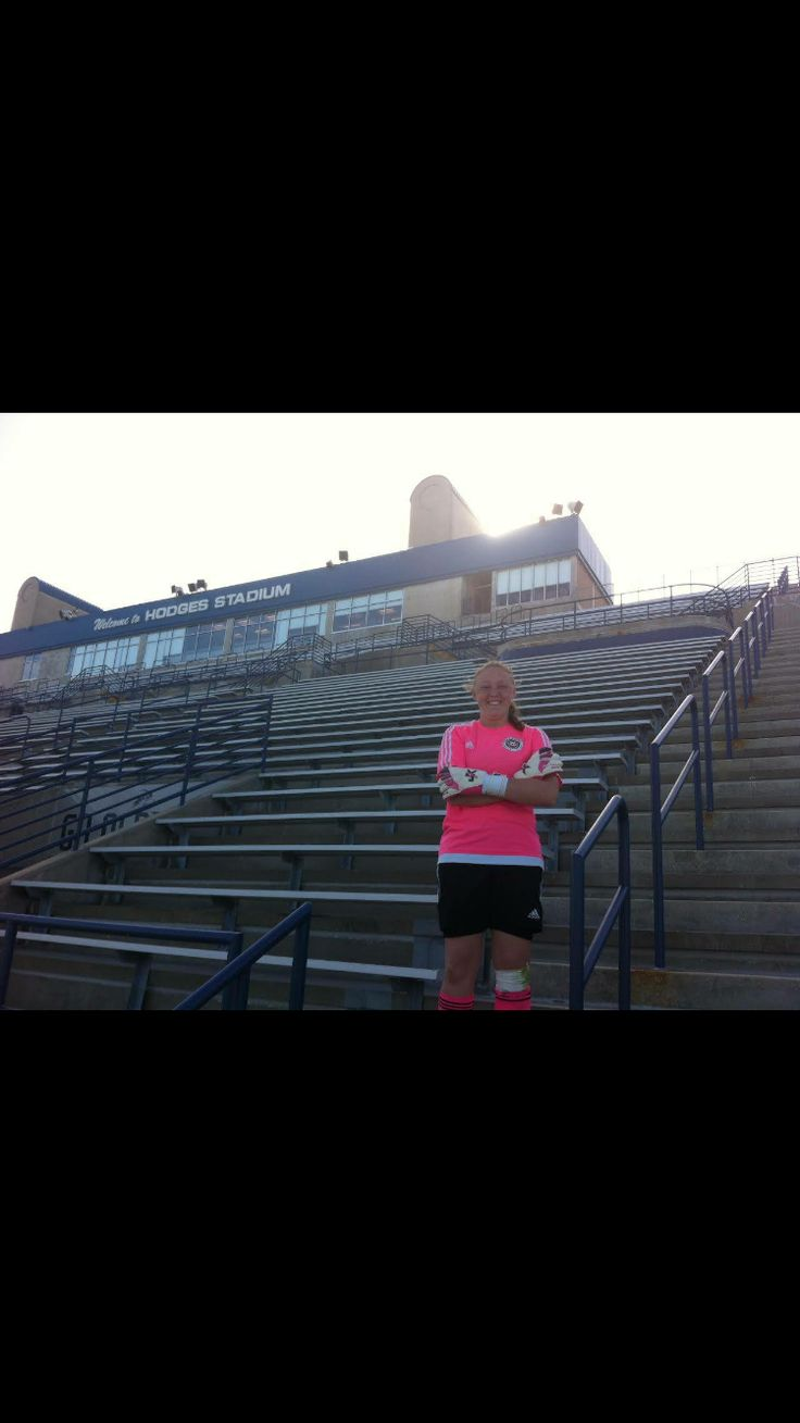 "Check out   Emily is a  U17 Goalkeeper that tried out yesterday for the University of North Florida (NCAA division one). The photos are taken on the stands of their ""Hodges Soccer  Stadium #J4KGlove   http://www.femalegoalkeepers.com/Blog/Post/Check-out-emily-a-u17-goalkeeper"