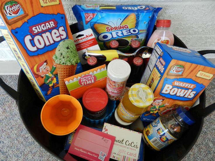 Ice Cream Sundae Basket - Raffle Basket Ideas