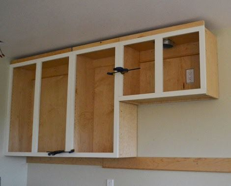 Installing Kitchen Cabinets   Momplex Vanilla Kitchen | Ana White  Woodworking Projects