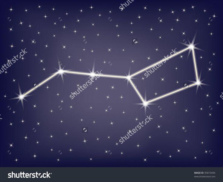 Constellation ursa major big dipper vector illustration