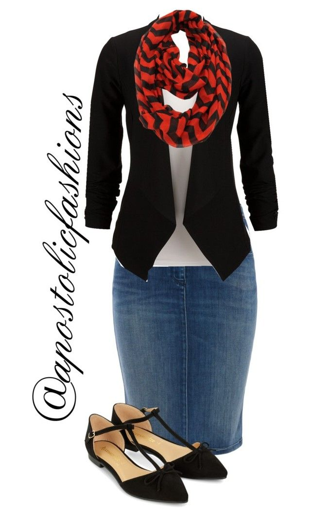 """Apostolic Fashions #1189"" by apostolicfashions on Polyvore featuring Armani Jeans, Le Nom and Accessorize"