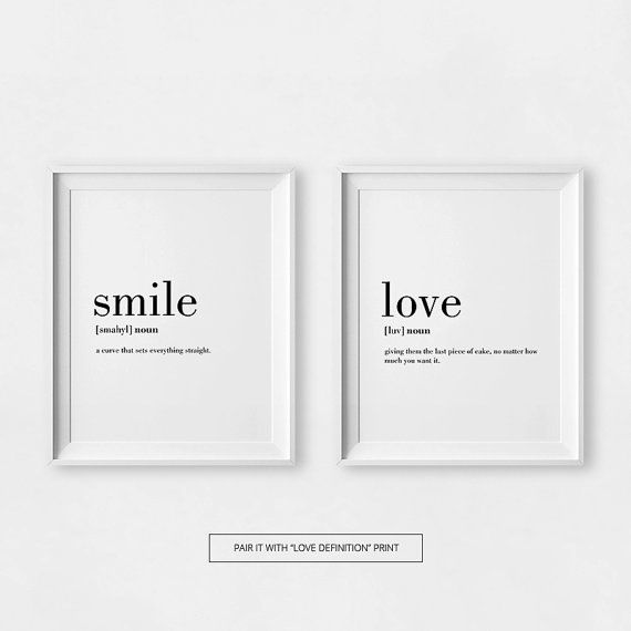 Minimalist prints smile definition posters smile for Minimalist interior design definition