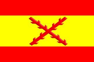 La Cruz de Borgoña, Primera Bandera de España