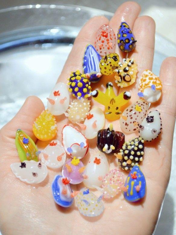 ガラスのウミウシ 置物 ハンドメイド通販・販売のCreema