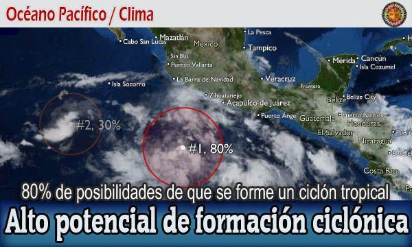 Aumentan las posibilidades ciclónicas en el Pacífico #Clima #LosCabos #Acapulco