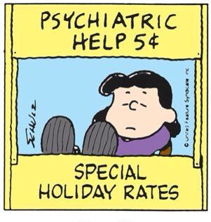 lucy on charlie brown 5 cents crossword