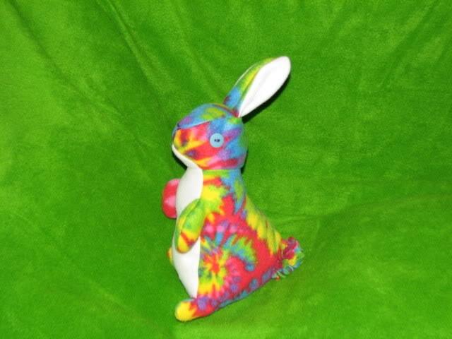 Tie Dye bunny - Hippy Hoppy  2008