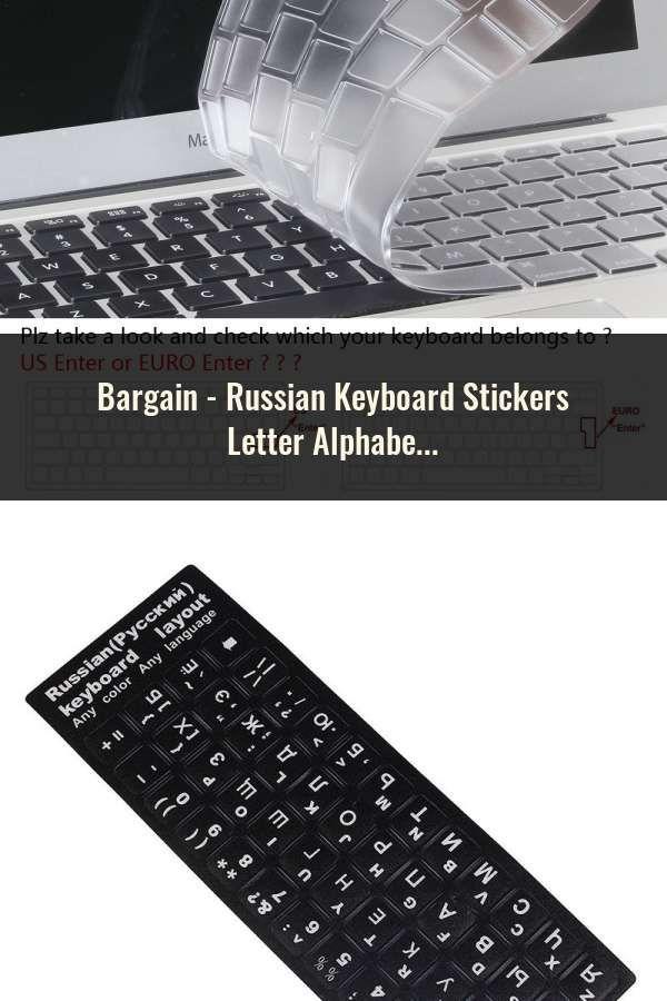 Russian Keyboard Stickers Letter Alphabet Layout Sticker For Laptop