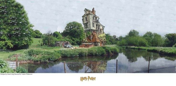 Harry Potter - The Burrow - Stuart Craig - World-Wide-Art.com - #harrypotter #jkrowling #stuartcraig