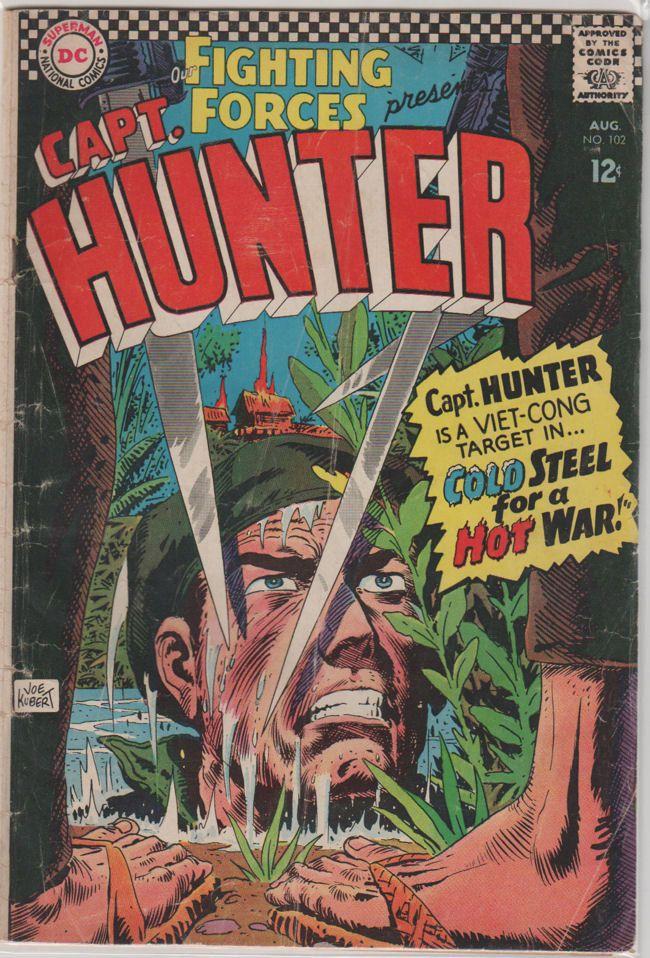 Our Fighting Forces; Vol 1, 102, Silver Age Comic Book. VG.  Aug 1966.  DC Comics #warcomics #ourfightingforces #vietnamwar #comicsforsale
