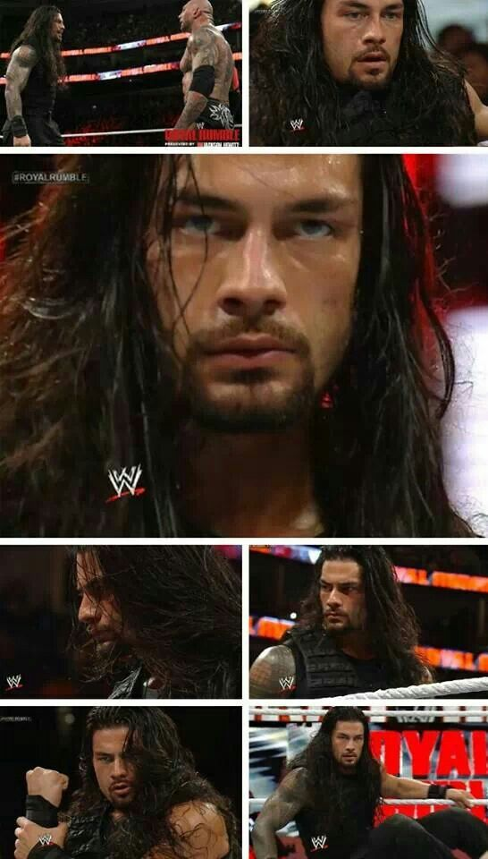 Roman Reigns- this is everything. He's huge, athletic and damn if I don't watch wrestling to see him. Le sigh.