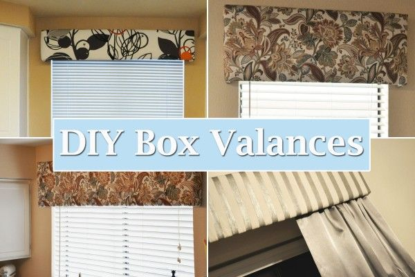 love this - DIY Box Valances, step by step tips to help you make them!