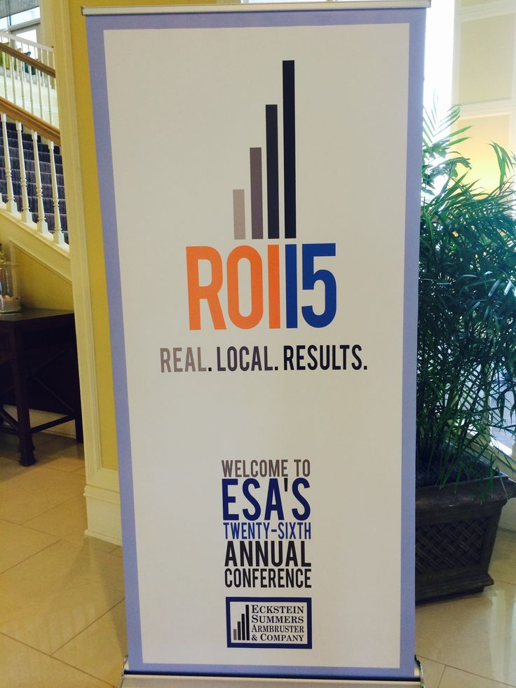 Welcome to ROI2015!  ESA's 26th Annual Conference.