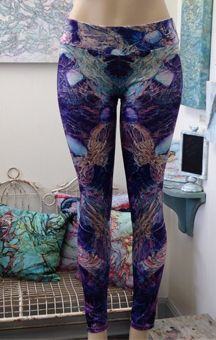 Firefly LEGGINGS from original artwork: As They Teach Me How To Dance by Col Mitchell Contemporary Paper Artist buy on society6