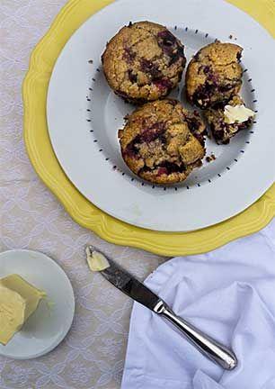 Blueberry Barley Muffins