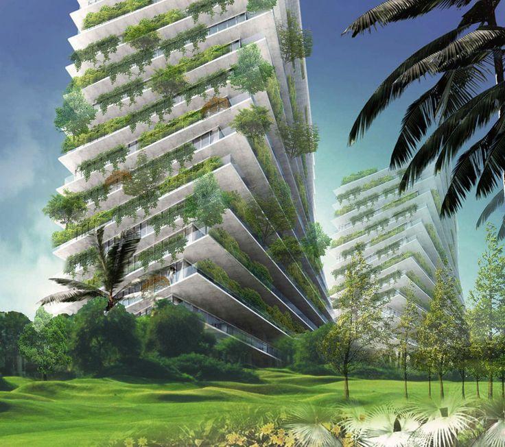 Seafront Tower, vertical garden in Fortaleza, Brazil (ReCS Brasil: Antonella Marzi ▪ 2014)