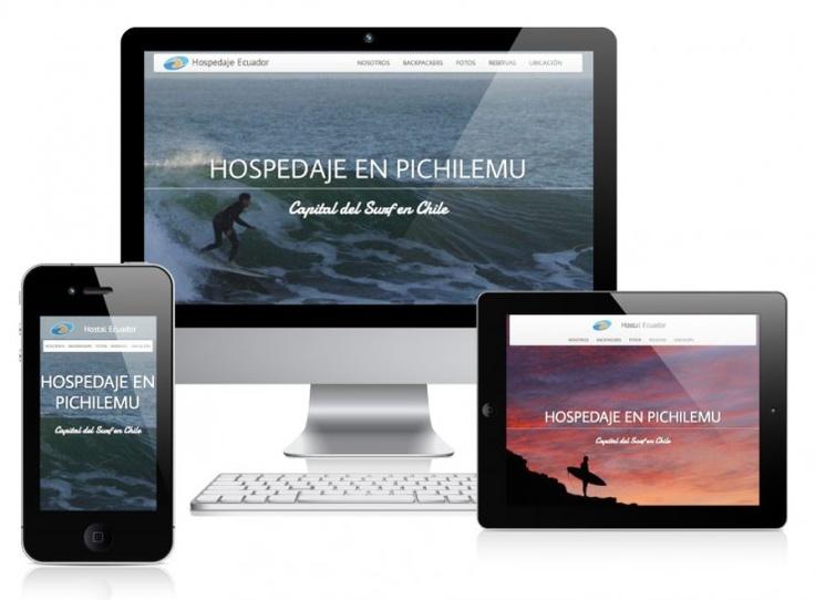 """Proyecto de diseño y desarrollo basado en crear un sitio web para el hostal """"Hospedaje Ecuador"""" de Pichilemu, Chile."""