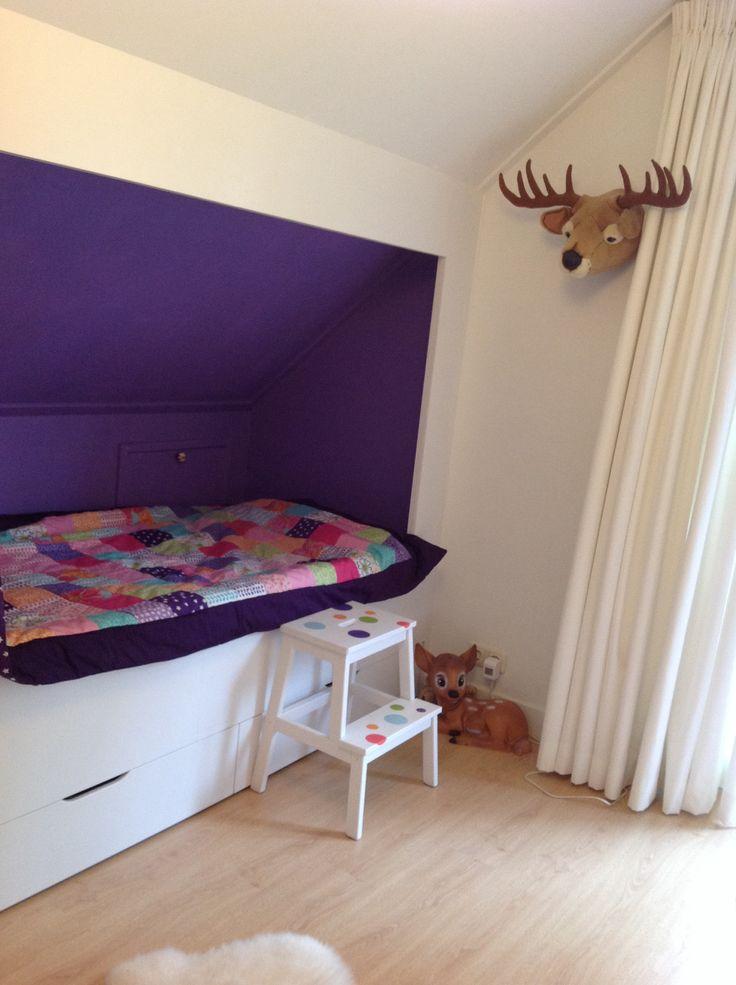 Kirsten's quilt, bedstee built in bed