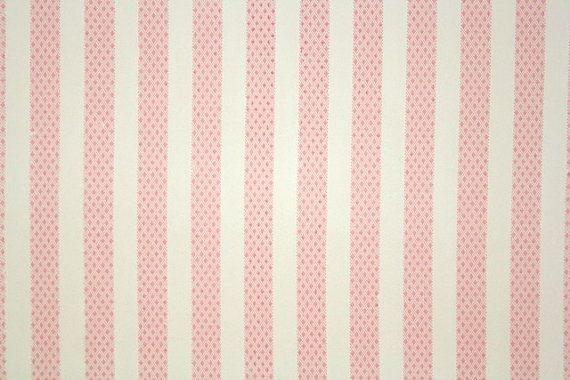 1940 S Vintage Wallpaper Pink And White Stripe Cute