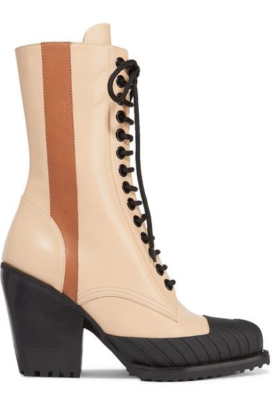 7079eab144e Chloé - Rylee glossed-leather ankle boots
