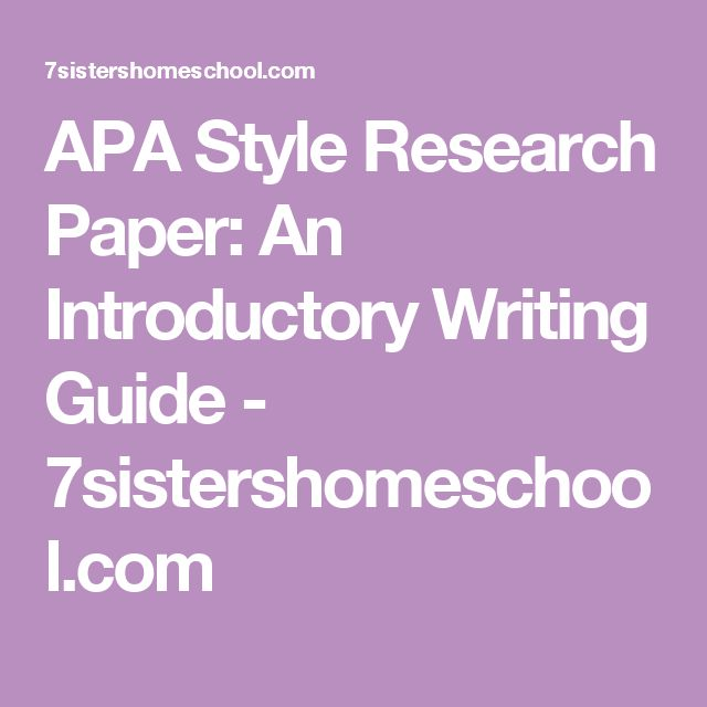 Writing Apa Research Paper: 25+ Best Ideas About Apa Style Paper On Pinterest