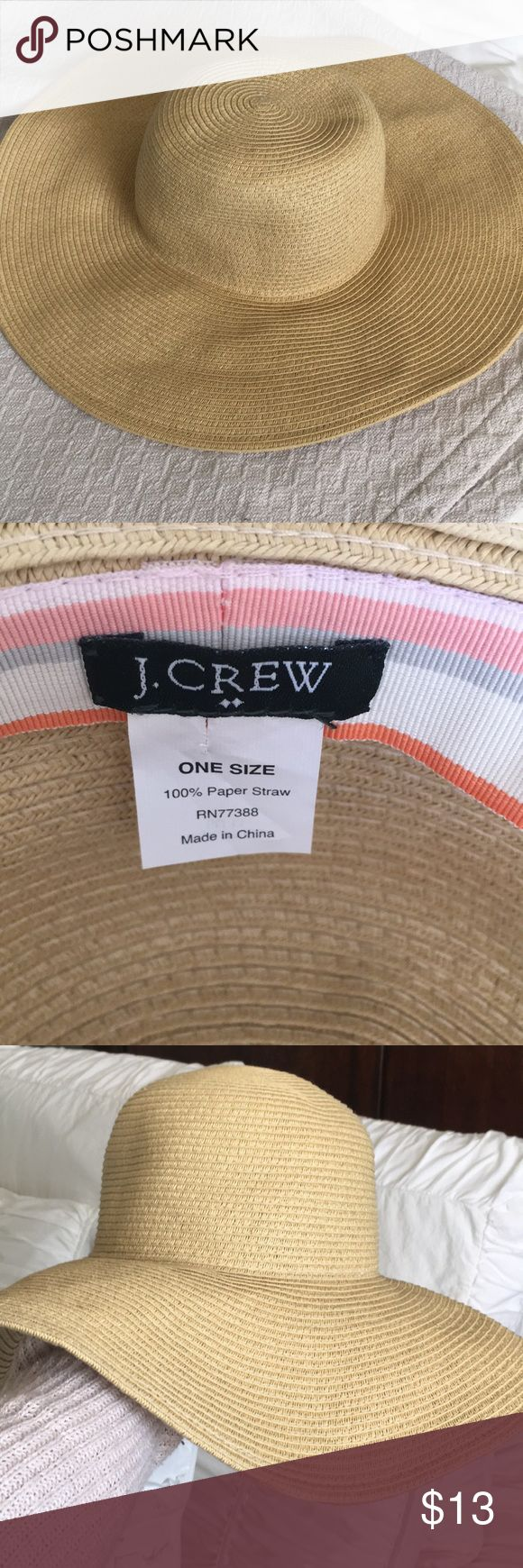 Jcrew factory floppy straw hat Jcrew Factory floppy straw hat. Only worn a few times on one trip, but sadly we don't live near a beach & it hasn't been worn since! Excellent condition. J. Crew Accessories Hats