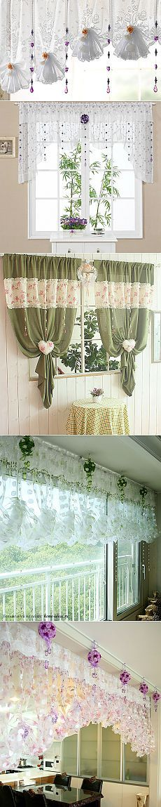 Beautiful curtains in the kitchen ... to those who have it a little, this post - a find !.