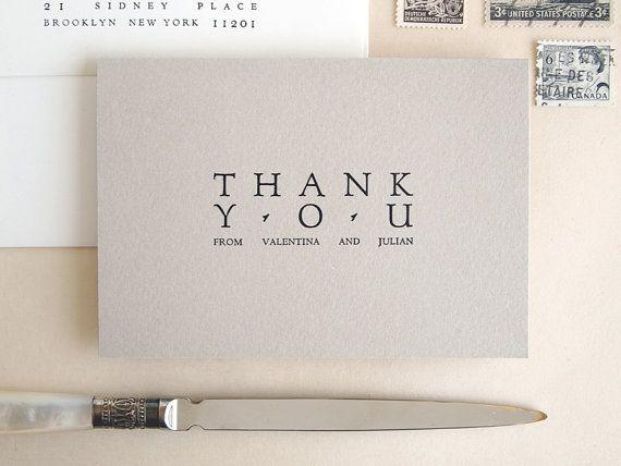 Wedding Thank You Card Set  Forum  Letterpress Printed Bulk Set