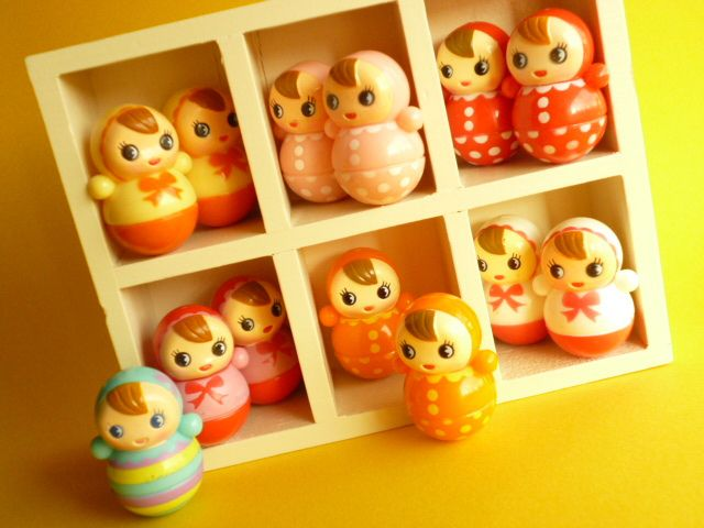 Kawaii Cute Baby Miniature Roly Poly Japanese Toys Collection by Kawaii Japan, via Flickr