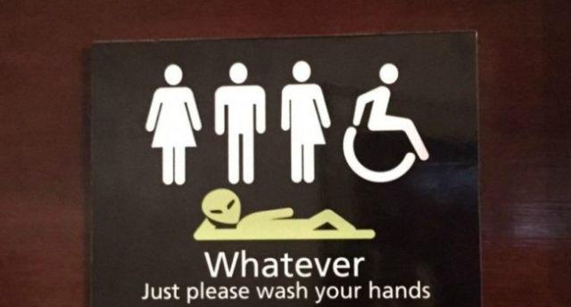 Best 10 Gender Neutral Bathroom Signs Ideas On Pinterest