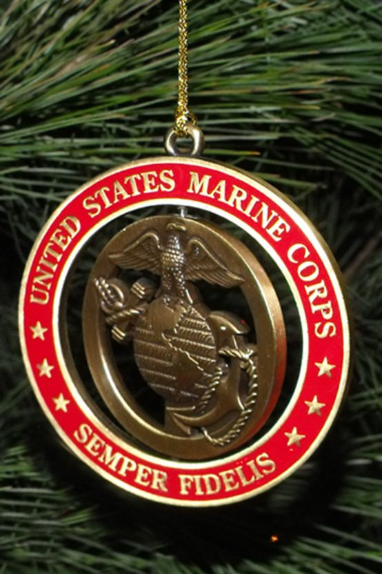 USMC Christmas Tree Ornaments, for  Marine Corps families, especially those Marine Mom's