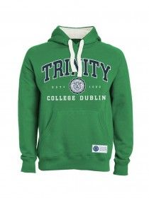 Trinity Unisex Hood Embroidered Green