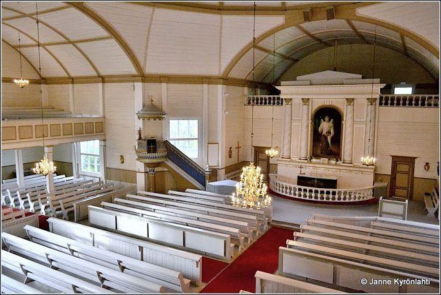 Alajärvi church interior, southern Osthrobotnia