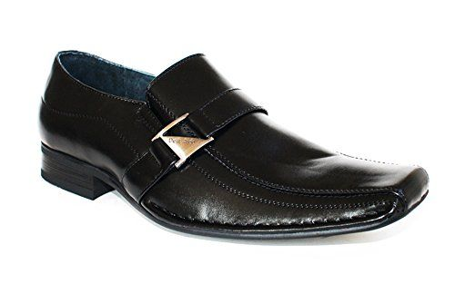 Delli Aldo Men's Black M-19231 Buckle Belted Strap Leather Slip On Dress Shoes 13 D US - http://all-shoes-online.com/delli-aldo/13-d-m-us-delli-aldo-mens-black-m-19231-buckle-belted