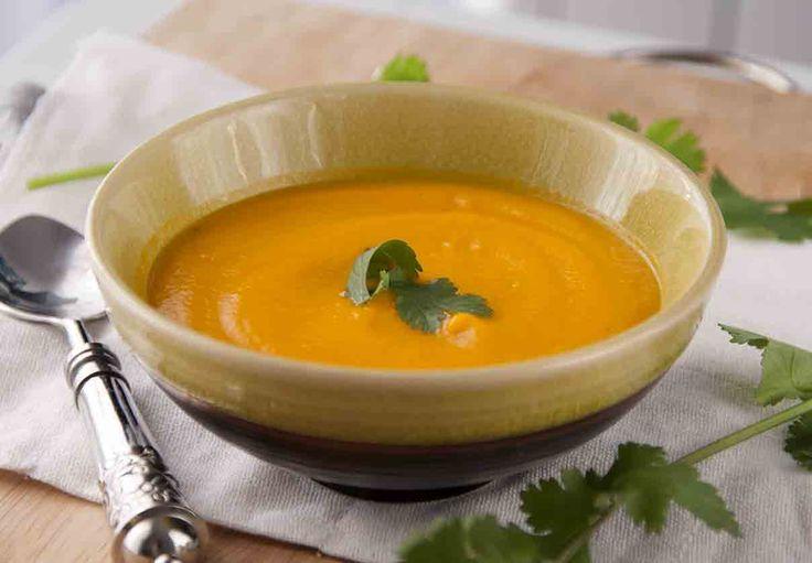 Sopa de zanahorias con especias orientales