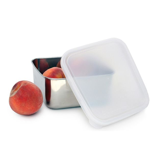 This stainless steel leak-proof container is awesome!  It is a fantastic size for storing salads, take-out, leftovers or baked goods and for taking along to work or school the next day.
