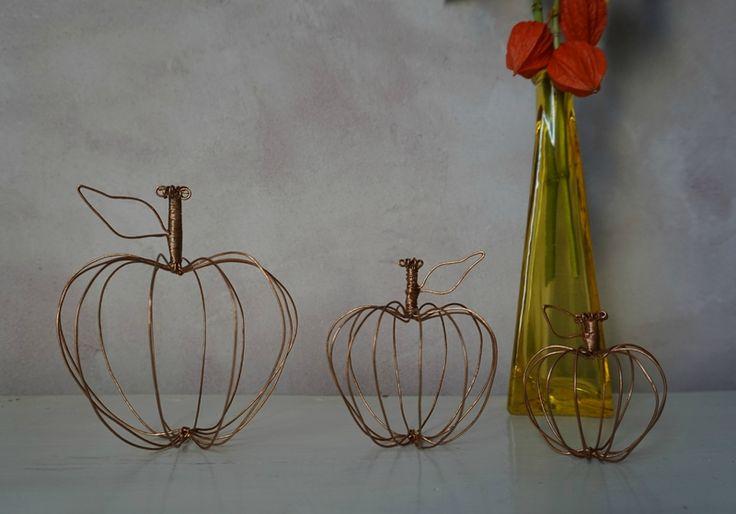d co automnale diy pommes fil de fer et couleur cuivr e diy pinterest couleur cuivre. Black Bedroom Furniture Sets. Home Design Ideas