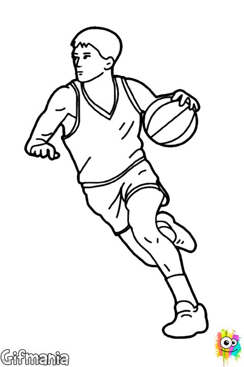 basketball player center drawing coloring pages pinterest dibujo drawings and. Black Bedroom Furniture Sets. Home Design Ideas