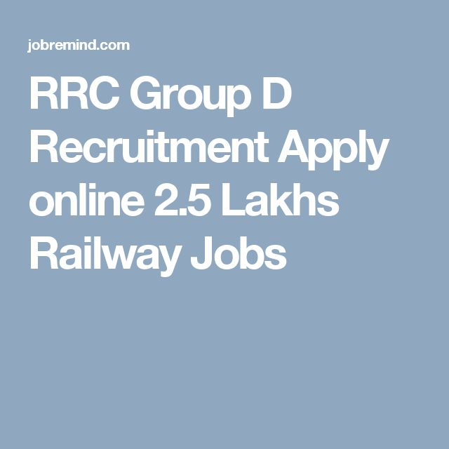RRC Group D Recruitment Apply online 2.5 Lakhs Railway Jobs
