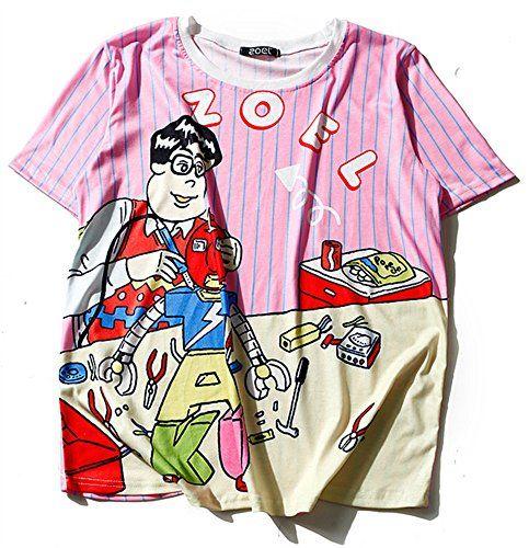 (シーファニー)Cfanny レディース Tシャツ 原宿風 プリント 半袖 トップス T3659 桜色 Cfanny https://www.amazon.co.jp/dp/B06XDGNXF8/ref=cm_sw_r_pi_dp_x_8Vj3ybYQA502J