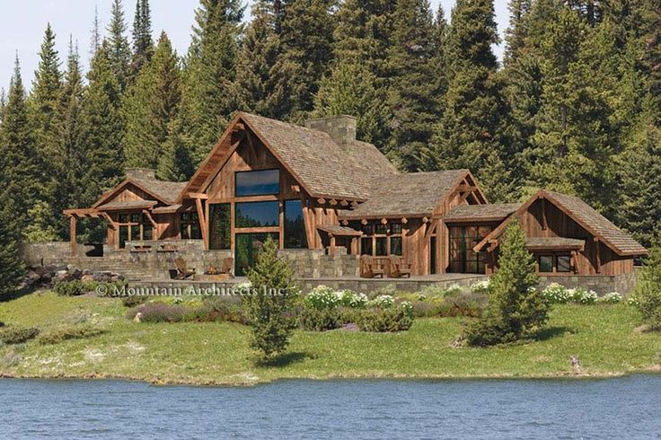 Precision craft log homes port townsend home mountain for Log home architects