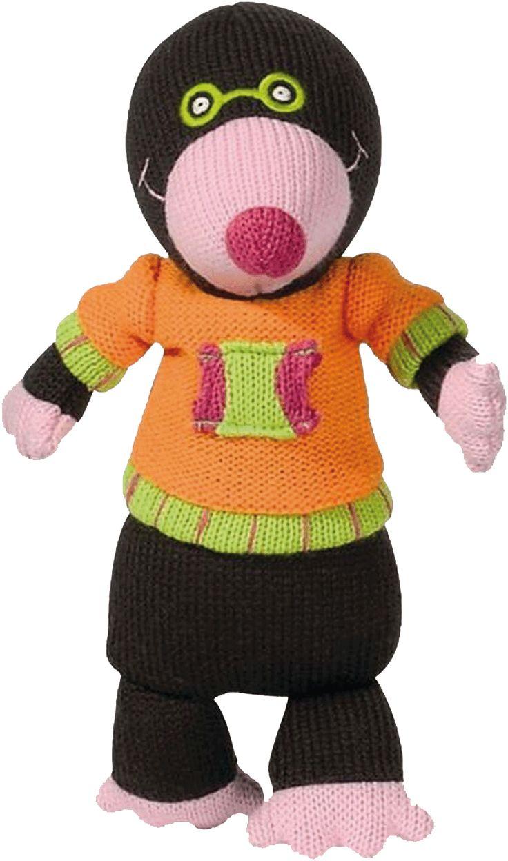 Alice la taupe des personnages de la Wooly Family par Latitude Enfant. Jouet ludique. Doudou d'éveil. Produit de puériculture.