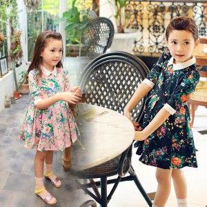 Rochie de zi cu imprimeu floral model Mary Ann