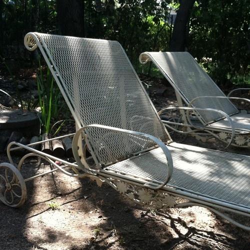 2 Garden/Patio Furniture Woodard Briarwood Chaise Lounge